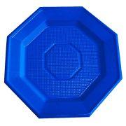 Prato Descartável Oitavado 16cm Azul Escuro 10Un