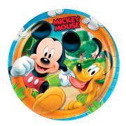 Prato Redondo 18Cm Mickey 8Un