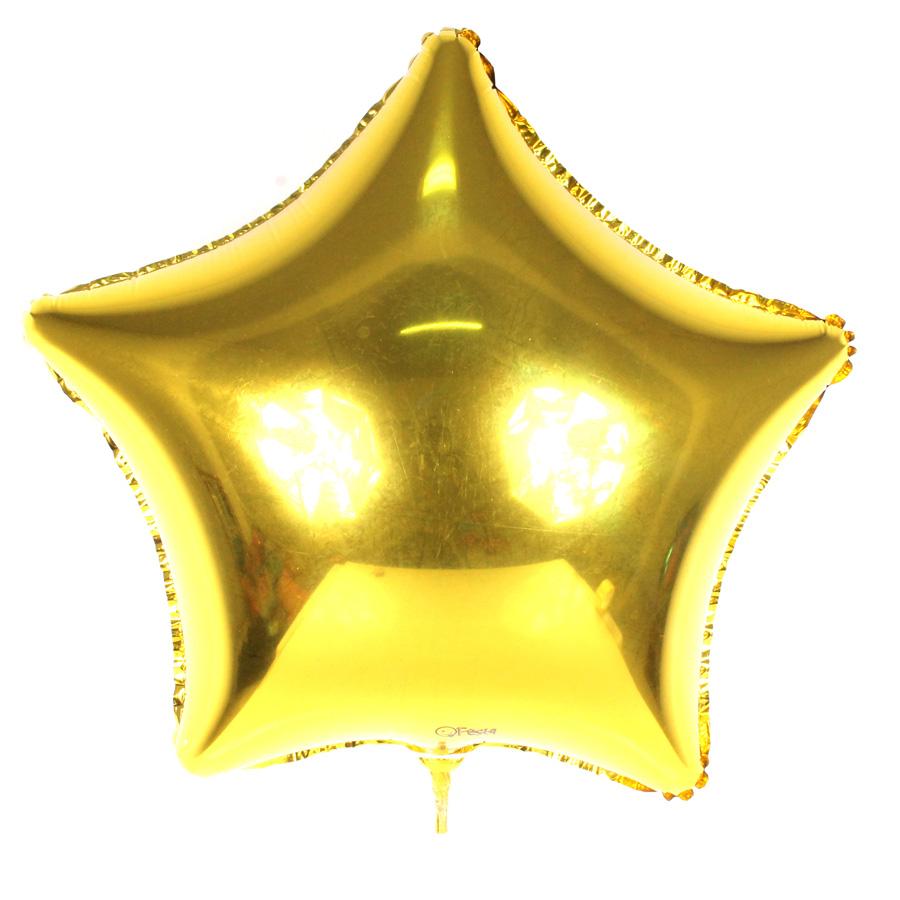 Adesivo De Estrela Dourada ~ Bal u00e3o Metalizado Estrela Dourada 48Cm Aluá Festas