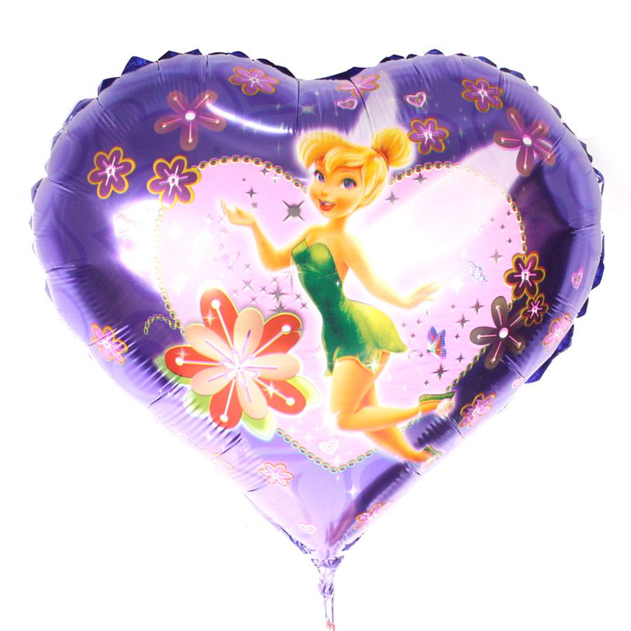 Balão Metalizado Coração Sininho