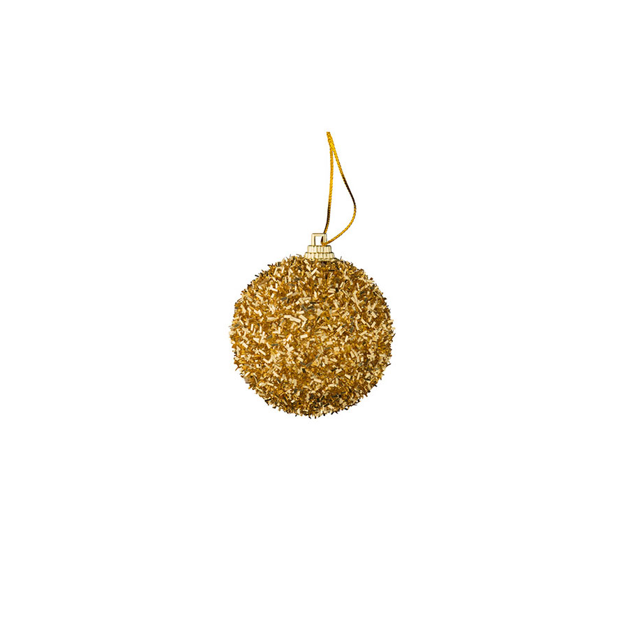 Bolas Fio Dourado Luminare 5,7Cm Com 12Unidades