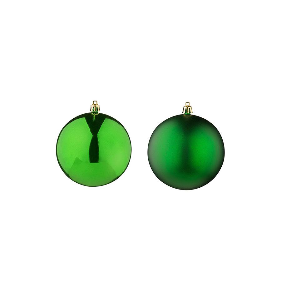 Bolas Lisa E Fosca Verde Luminare 9,8Cm Com 5Un