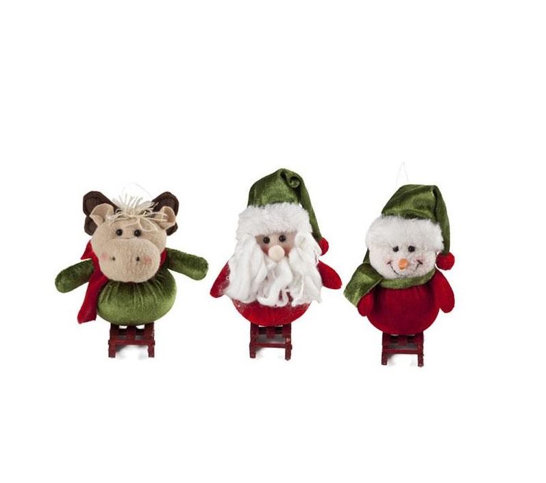Bonecos Natal Esqui Un