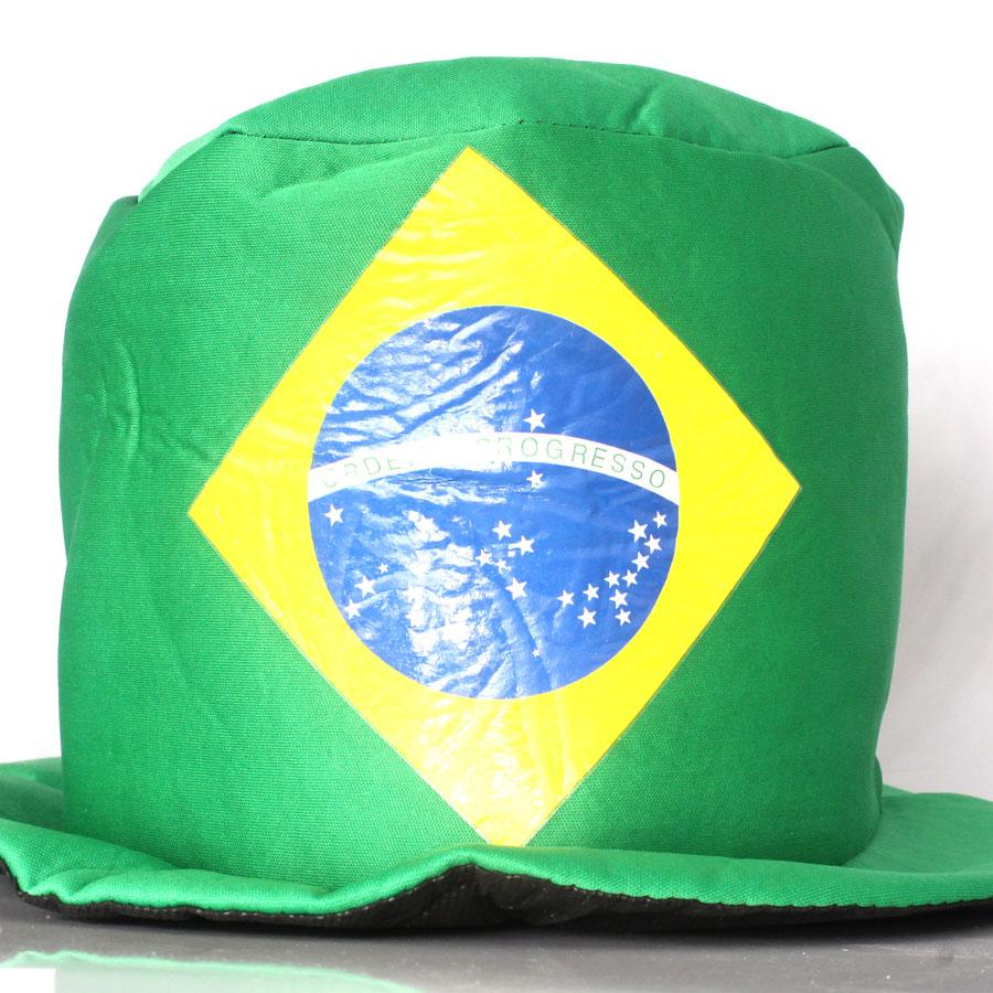 Cartola Chapéu Bandeira do Brasil de Poliéster