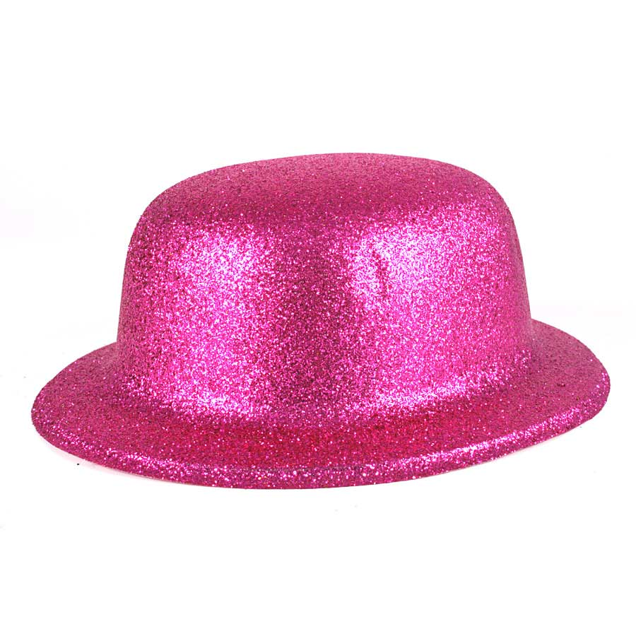 Cartola Plástica Com Glitter Pink