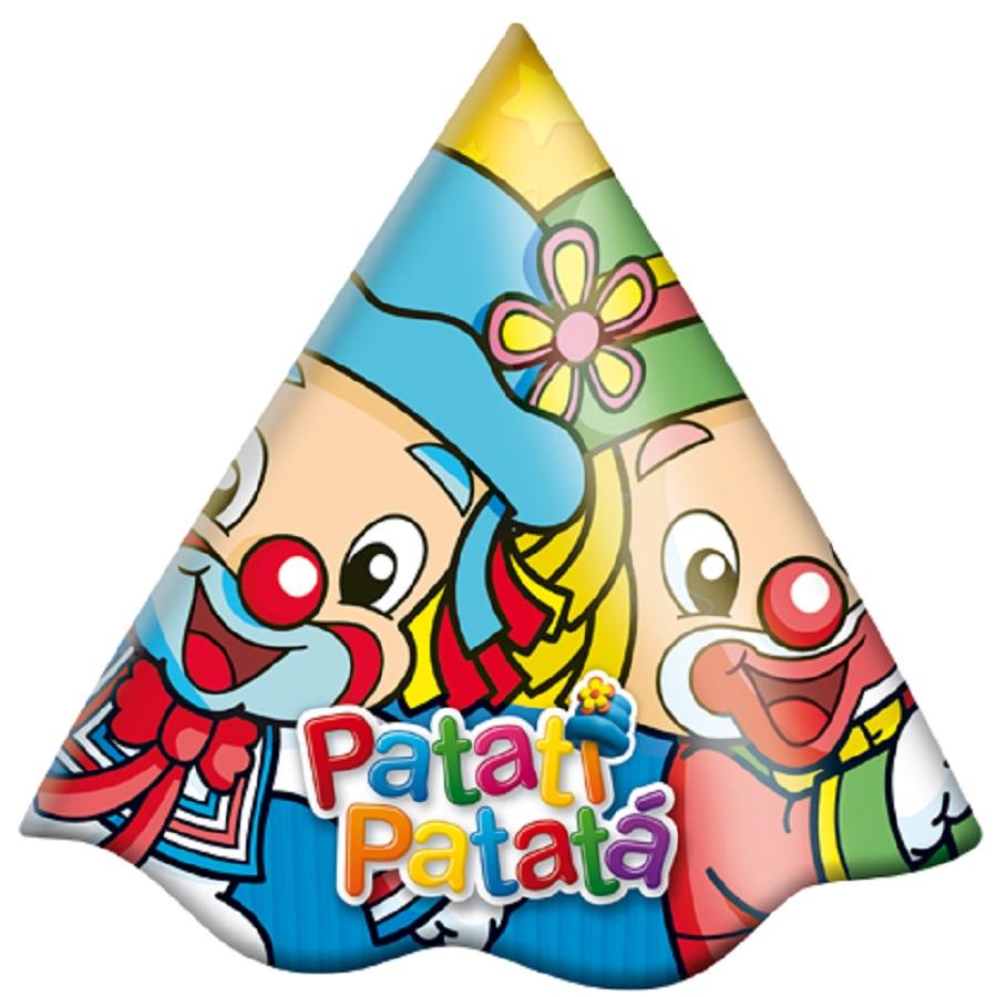 Chapéu Aniversário Patati Patatá 8Un
