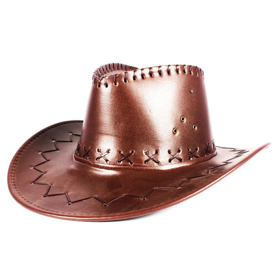 Chapéu Cowboy Marrom Escuro