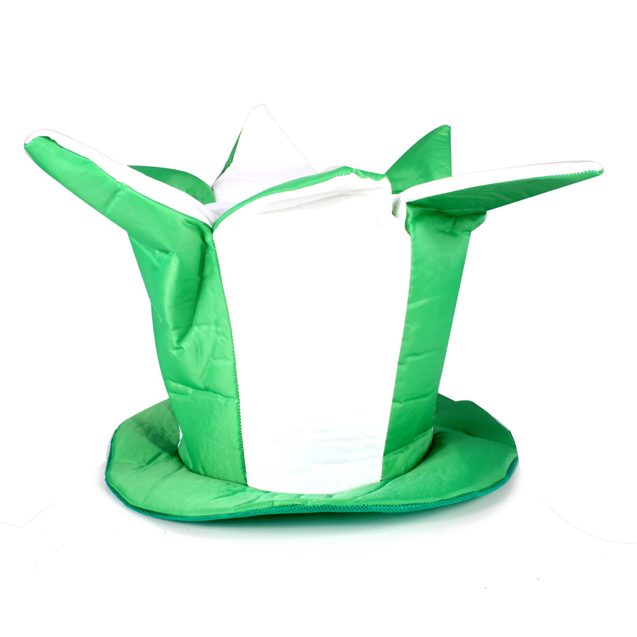 Chapéu Folia Verde E Branco