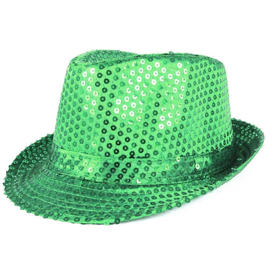 Chapéu Malandro Paetê Verde