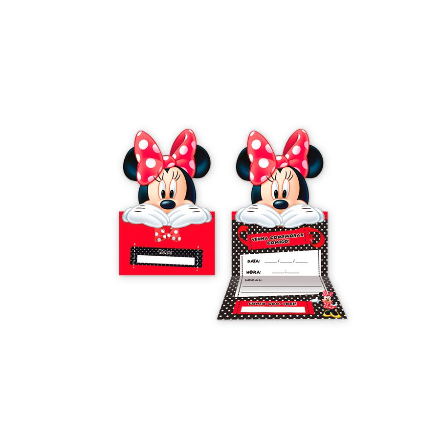 Convite Minnie 8Un