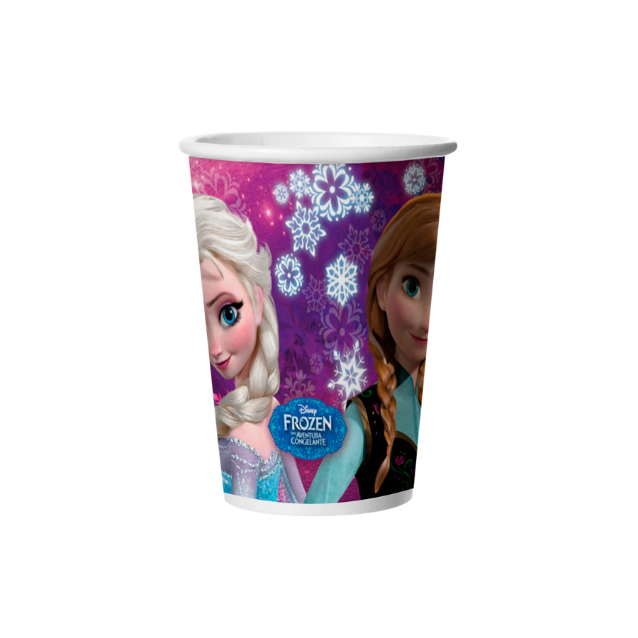 Copo Papel 180Ml Frozen 8Un