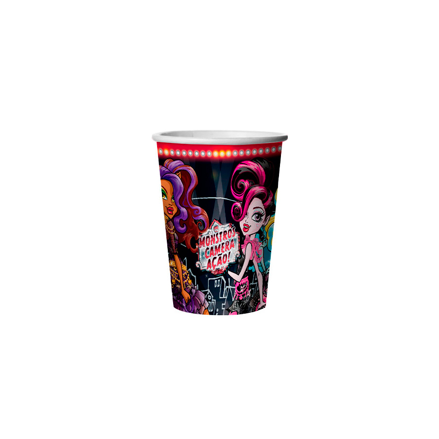 Copo Papel 330Ml Monster High 8Un