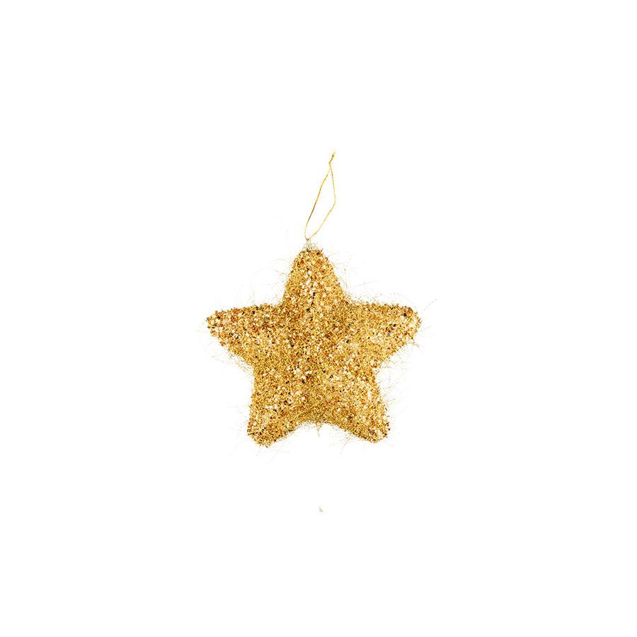 Estrela Fio Dourado Luminare 14,7Cm Unidade