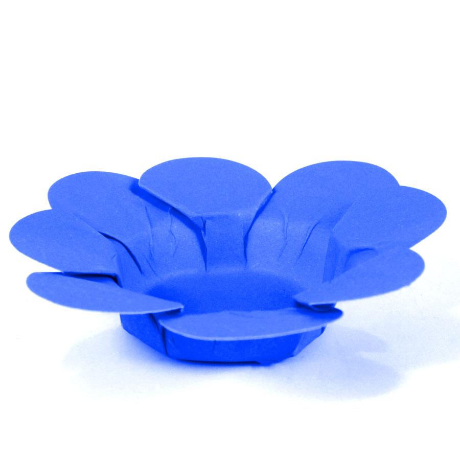 Forminha Flor P/ Doces 50Un Azul
