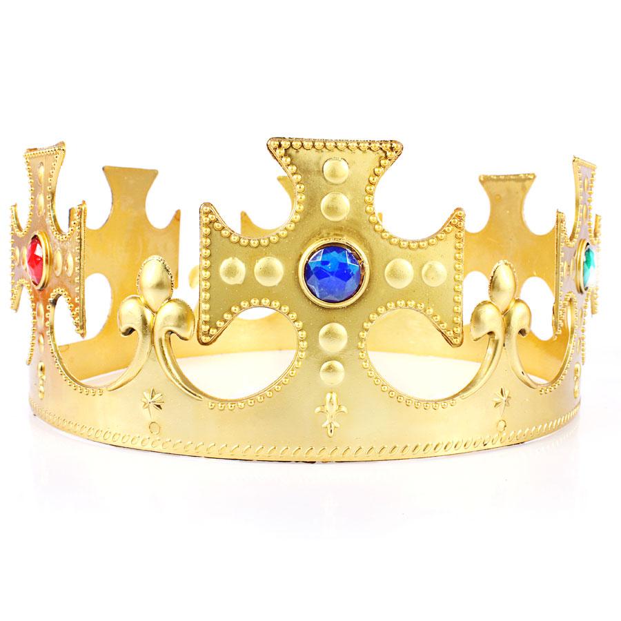 KIT 10 COROAS REI RAINHA PLASTICA - AJUSTAVEL