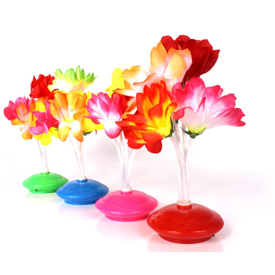 Kit 25 Abajoures Enfeite De Mesa Com Flor Colorida