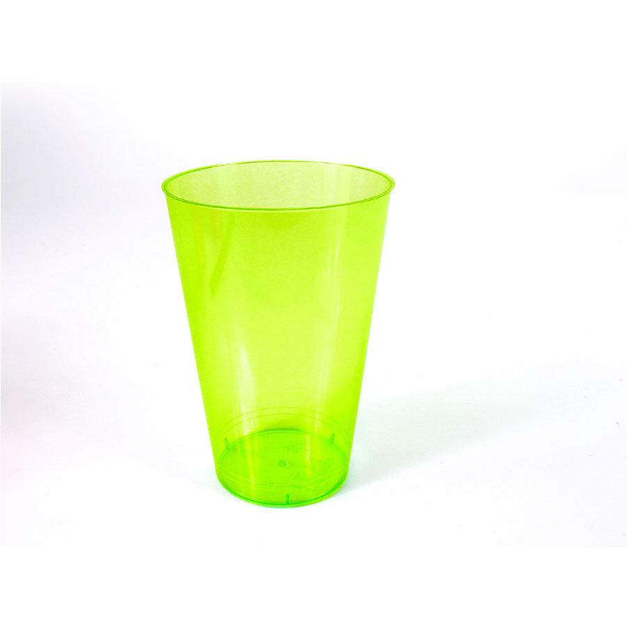 Kit Atacado Com 110 Copos Acrilicos Verde Limão