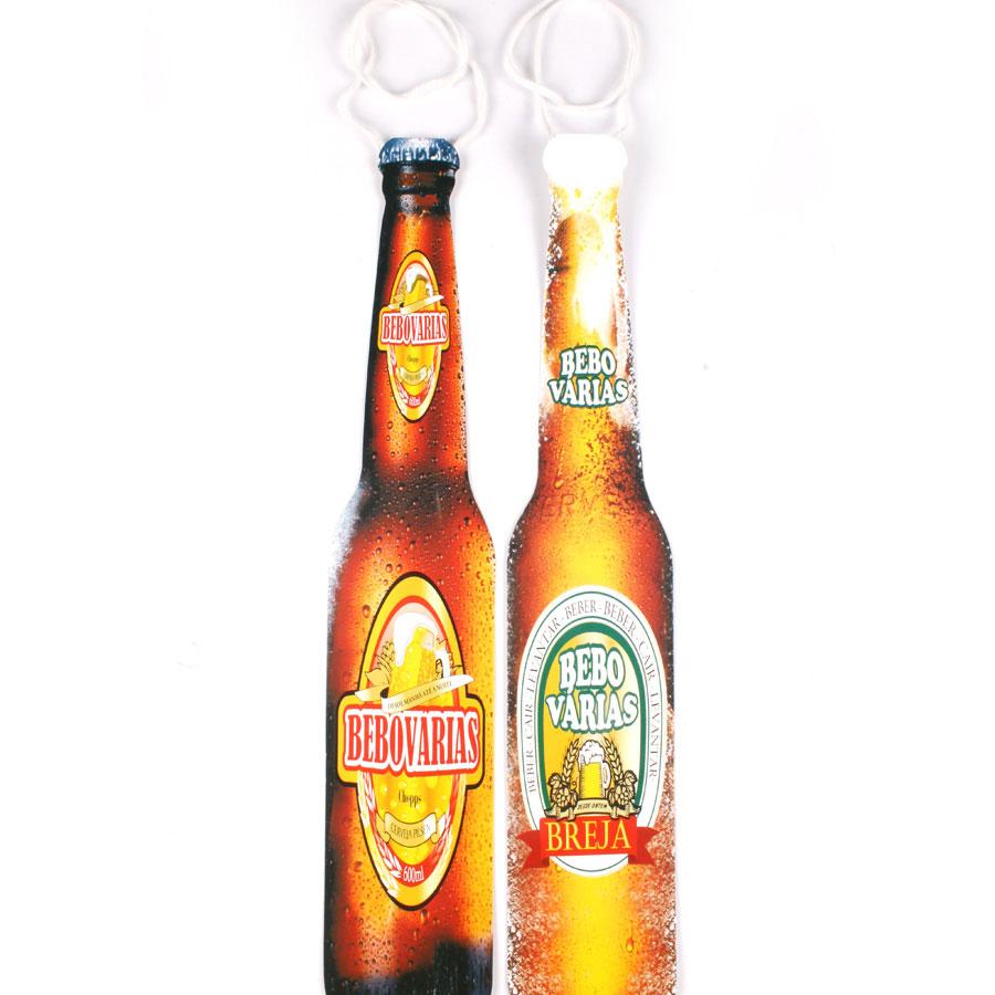 Kit Com 100 Gravatas Cartonadas Garrafa De Cerveja