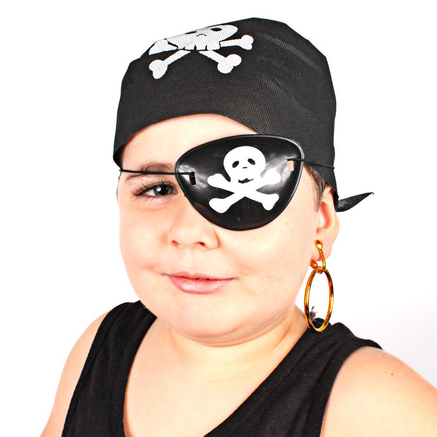 Kit Com 100 Kits Pirata ( Bandana, Tapa Olho E Brinco )