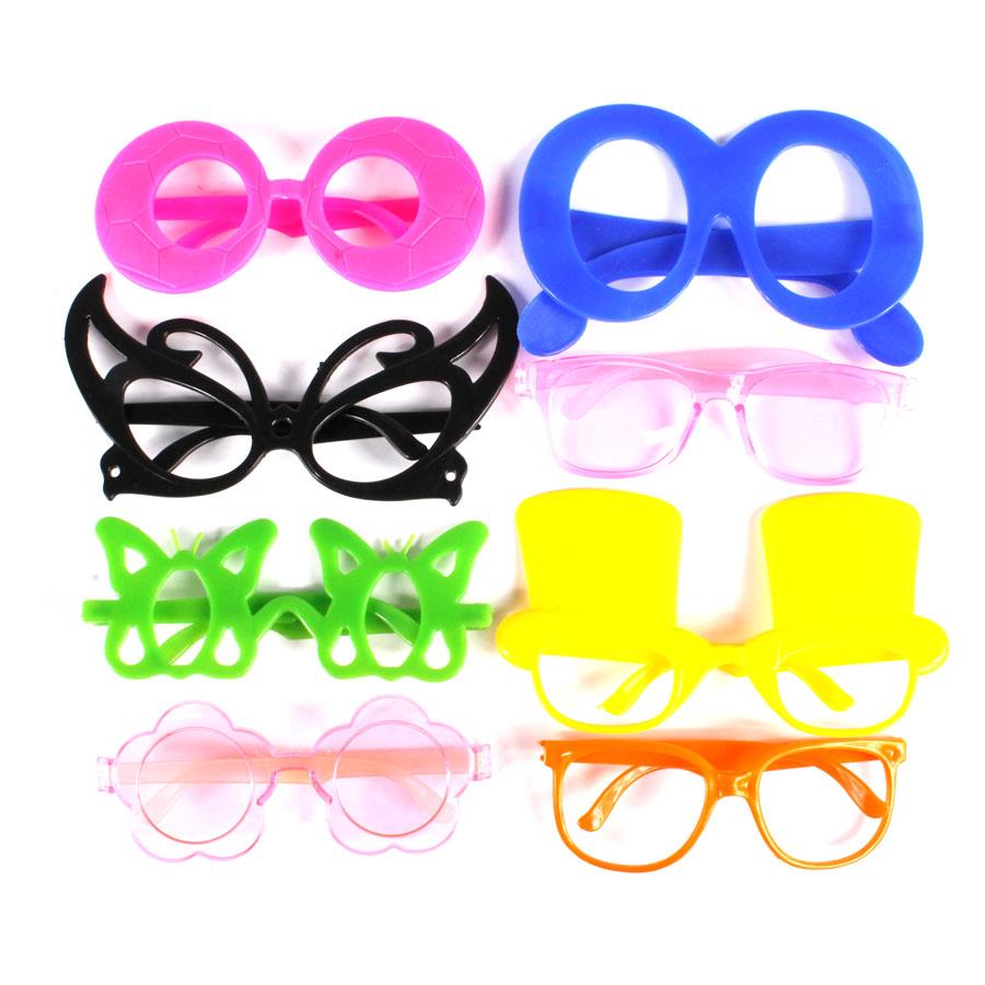 Kit Com 50 Gravatas Holograficas + 50 Óculos Sortidos