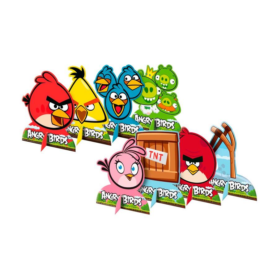 Kit Decoração De Mesa Angry Birds 8Un