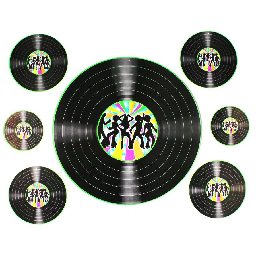 Kit Discos De Vinil Cartonados 7Un Aluá Festas # Decorar Com Discos De Vinil