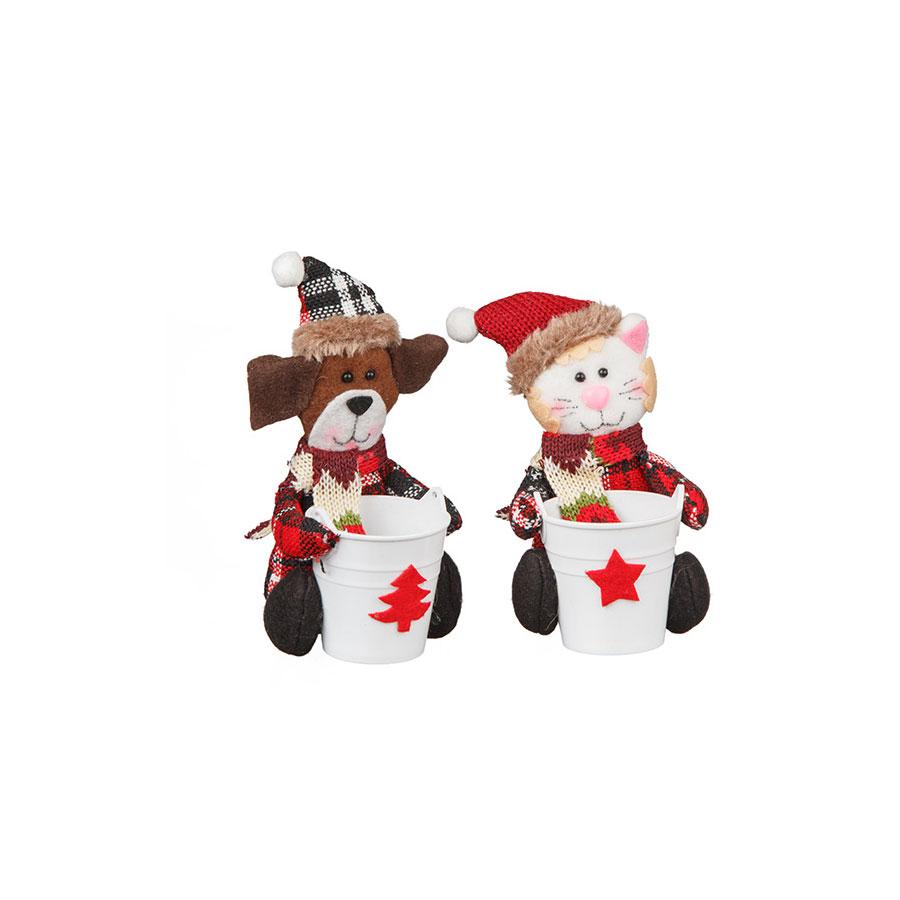 Kit Mini Balde Cachorro E Gato Country 2Un
