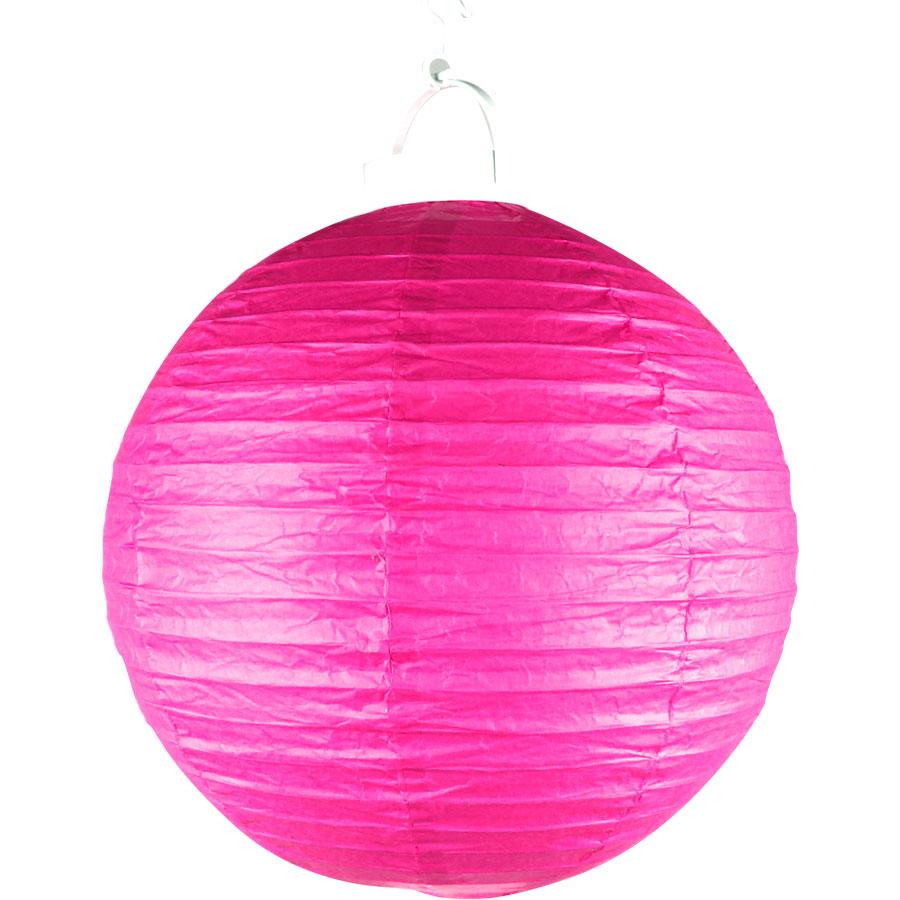 Luminária Com Luz De Papel Pink