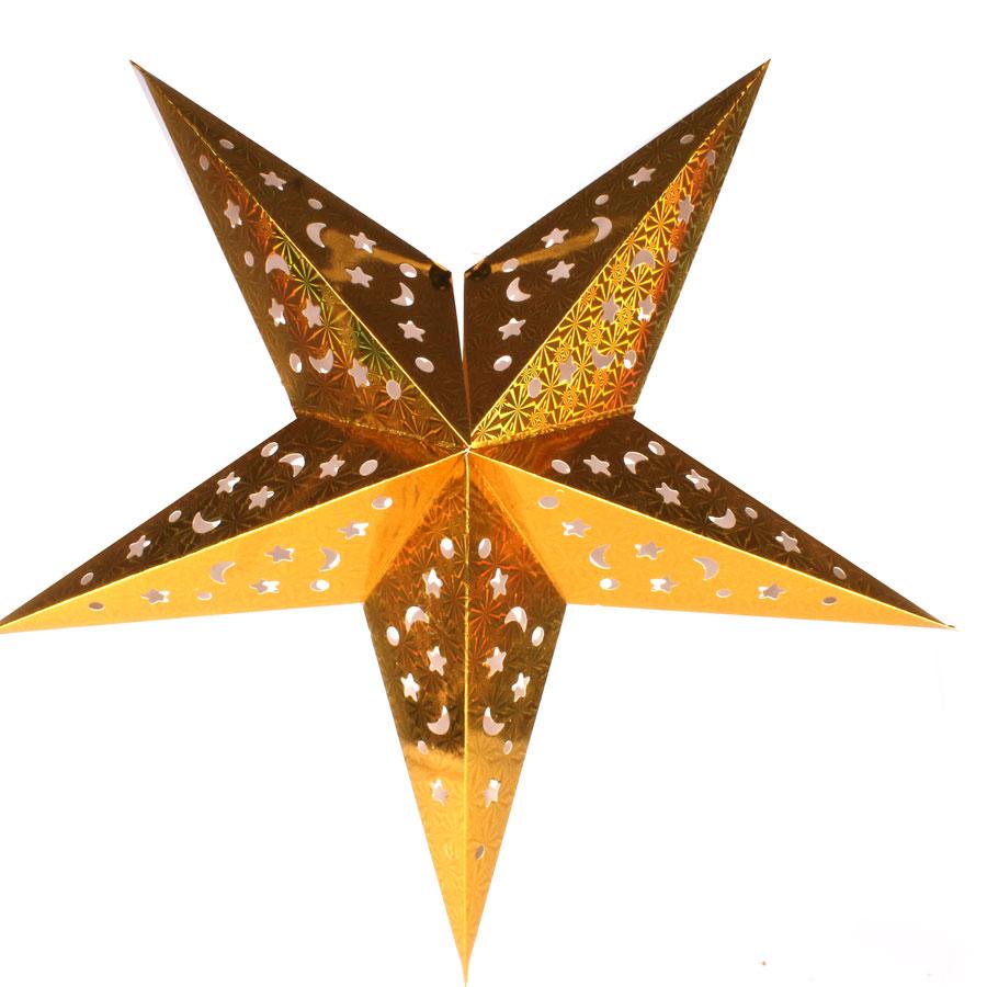 Aparador De Pelos Feminino Intimo ~ Luminária Grande Estrela Dourada Aluá Festas