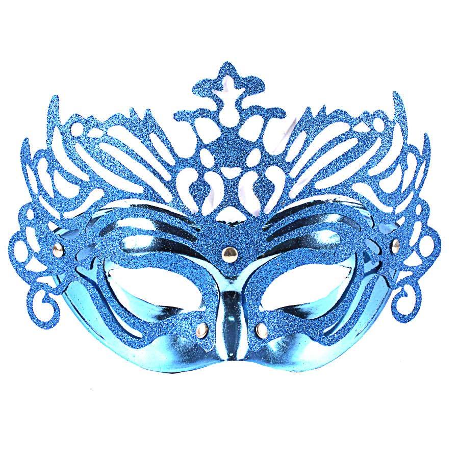 Máscara Veneziana Luxo Azul