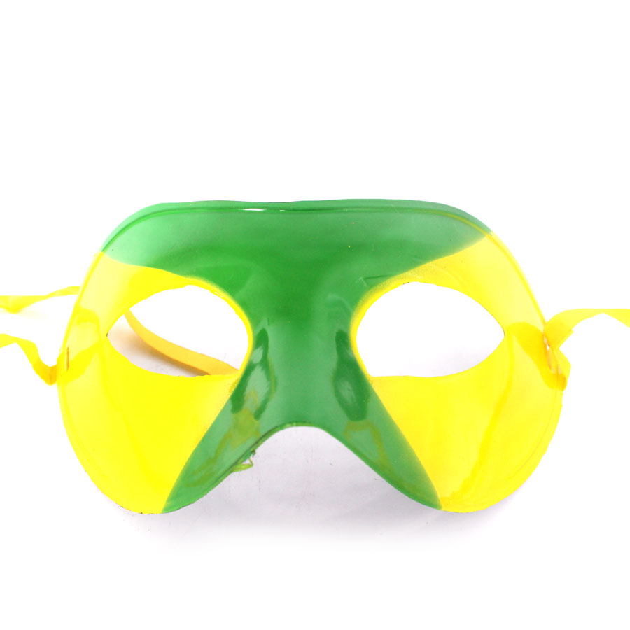 Máscara Veneziana Verde E Amarela