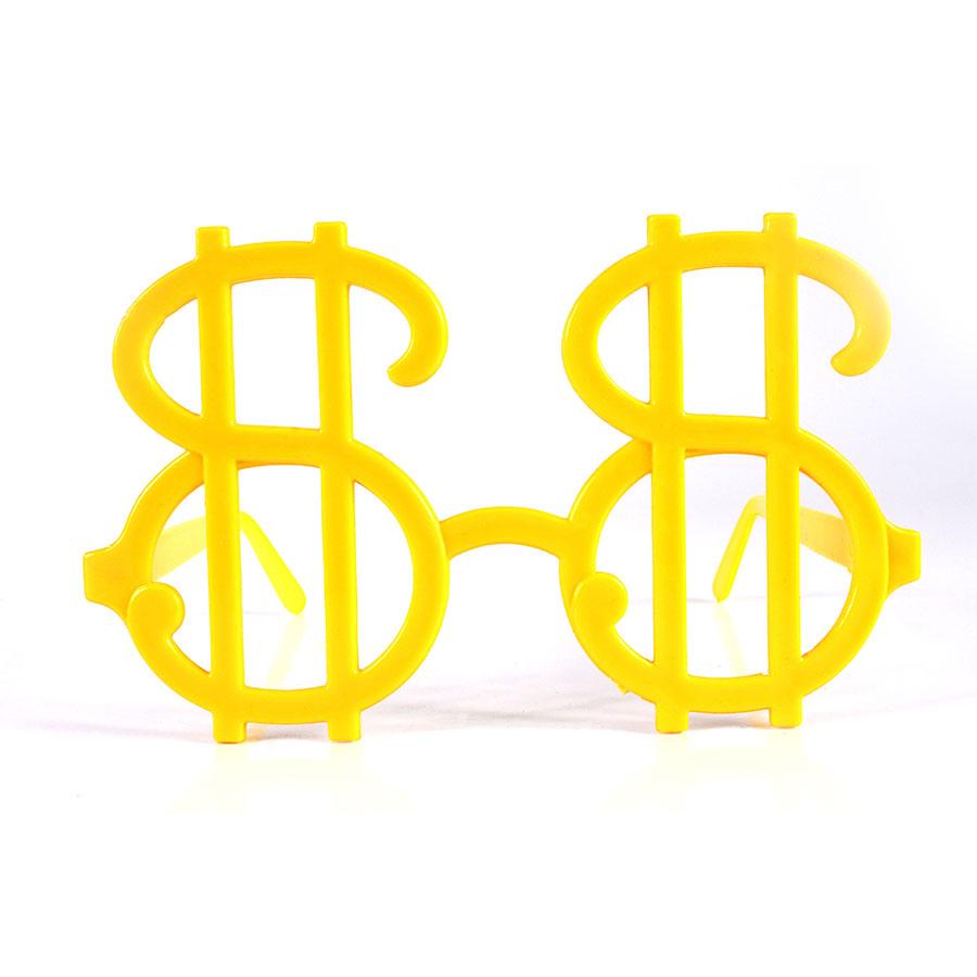 Óculos Cifrão Sem Lente Para Festas