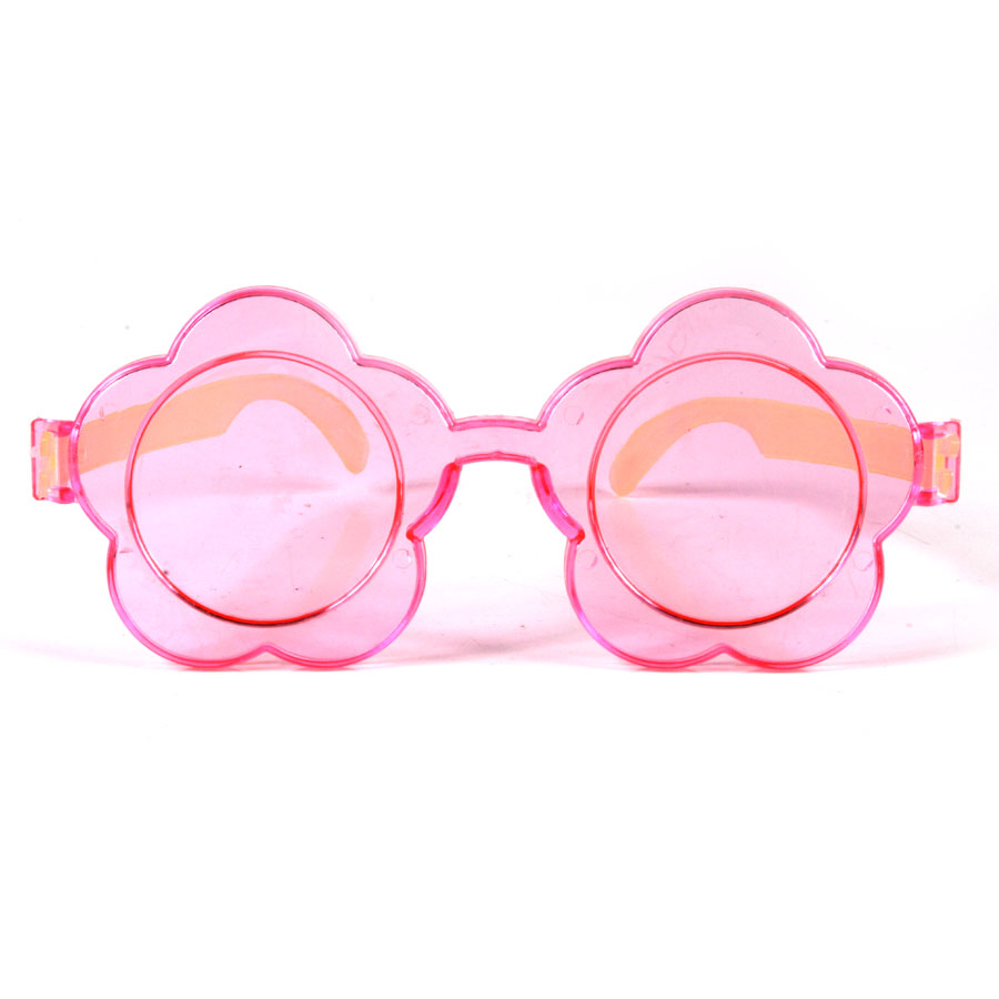 Óculos Flor Com Lente Colorida