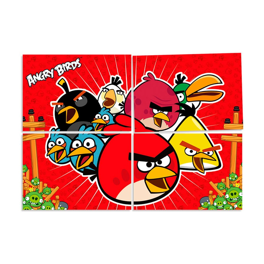 Painel Decorativo 126X88 Angry Birds