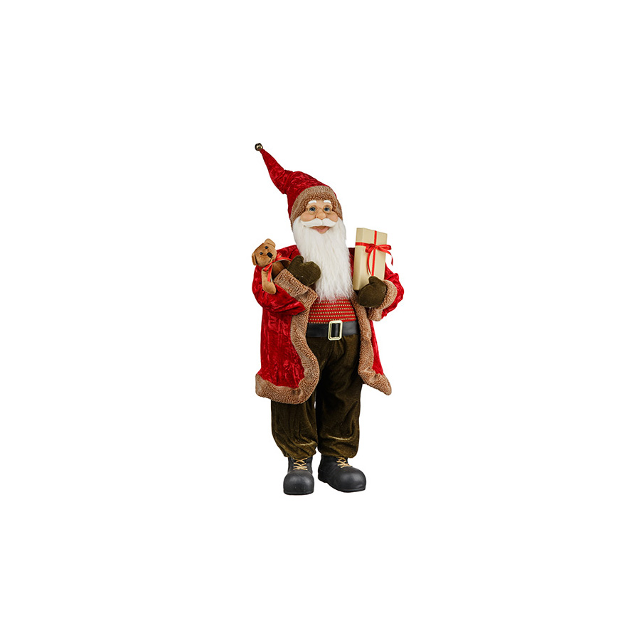 Papai Noel Presente Realista Forest 81Cm
