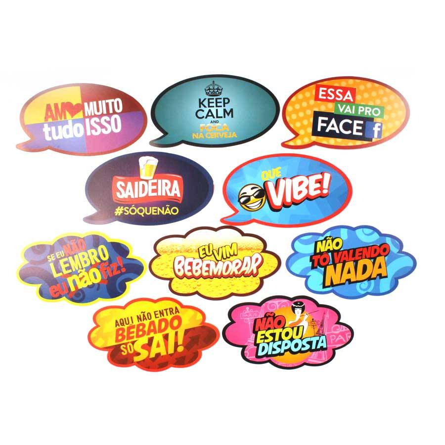 Placas Animadas Mix 1 com 10 unidades