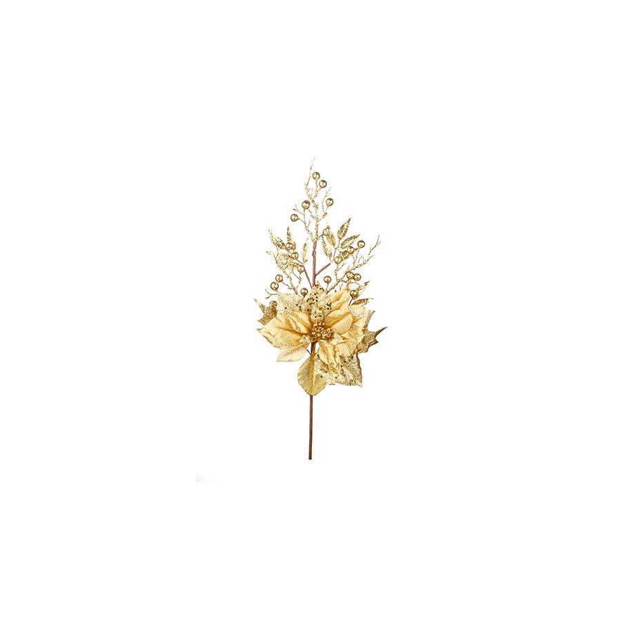 Poinsetia Cereja Dourado Milena 63Cm