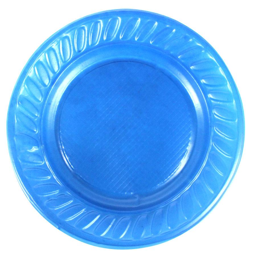 Prato Descartável 15Cm 10Un Azul Escuro