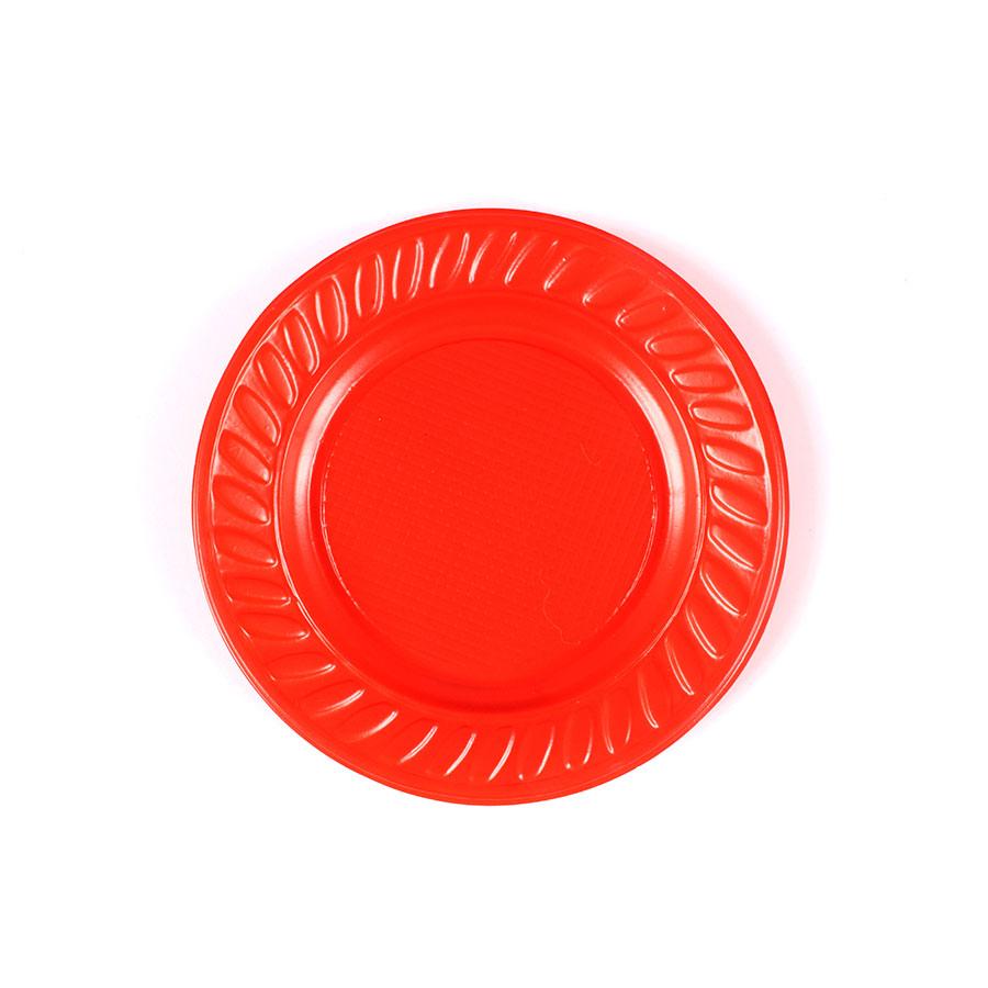 Prato Descartável 15Cm 10Un Vermelho