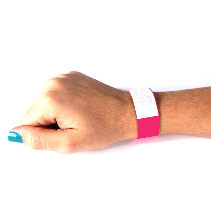 Pulseira De Identificação Tyvek Pink ( Pacote Com 10 Un )
