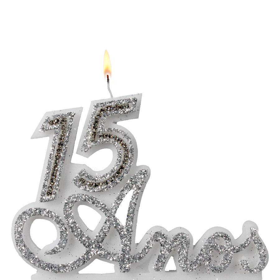 Vela 15 anos prata alu festas for Cubre sillas para 15 anos
