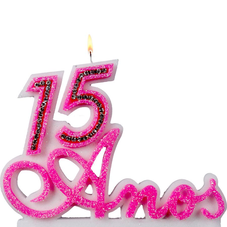 Vela 15 anos rosa alu festas for Cubre sillas para 15 anos