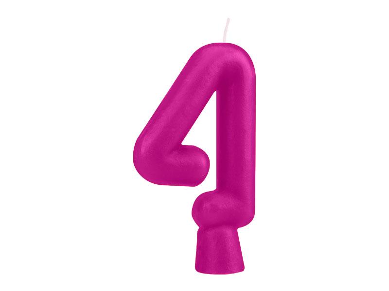 Vela Nº4 Fucsia Solid Colors