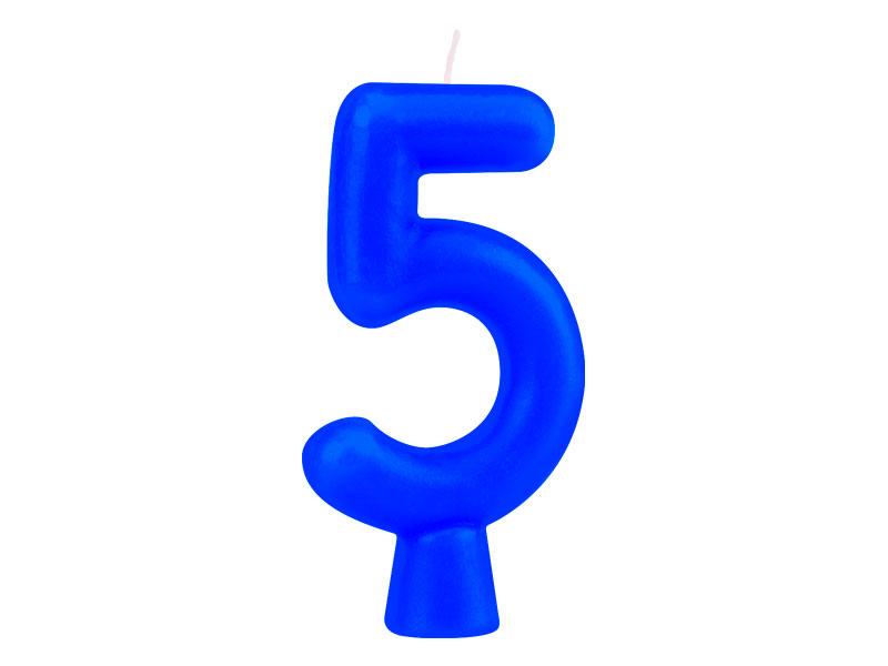 Vela Nº5 Azul Solid Colors