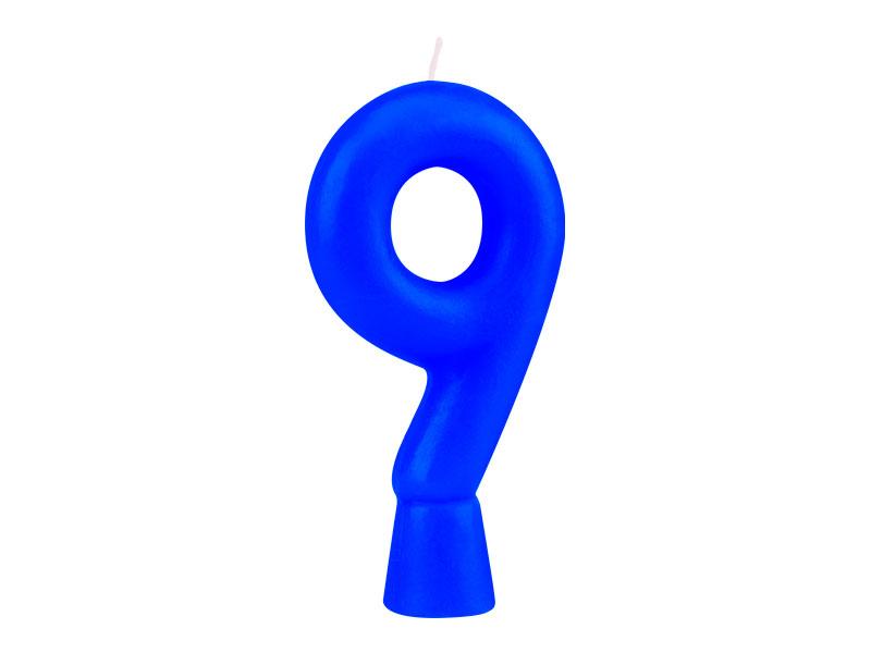 Vela Nº9 Azul Solid Colors