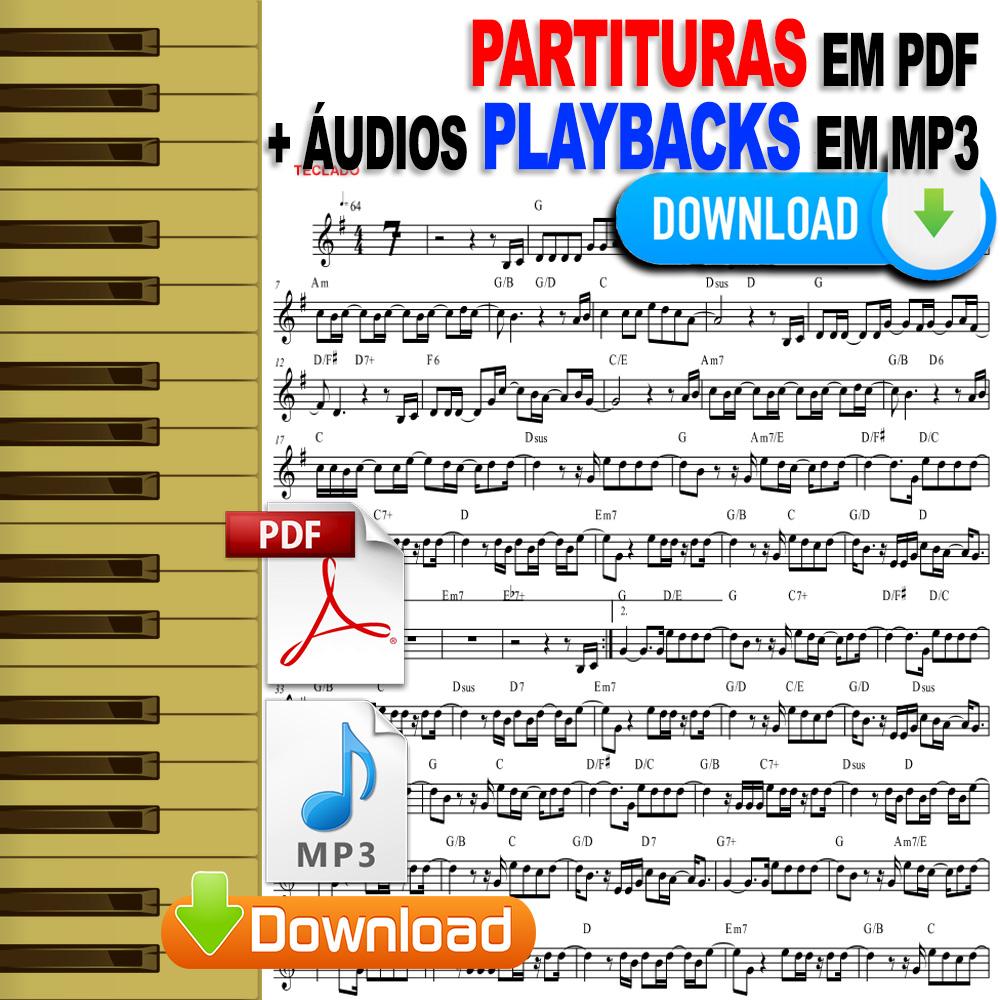 100 Partituras Evangélicas 2em1 Partituras Playbacks