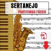 110 Partituras Sertanejas Forró Sertanejo Fácil Iniciante