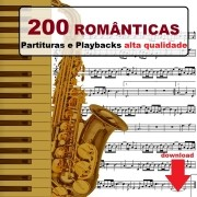 200 Partituras Românticas + MP3 Playbacks