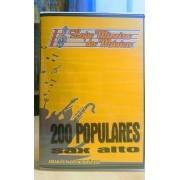 Lançamento Sax Alto Popular Dupla 200 Musicas Populares MPB e Internacional + Tangos Orquestradas Boleros Sax Alto Partituras com Playbacks Kit