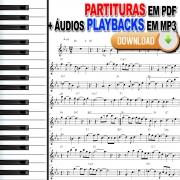 Música Namorados 50 Partituras Internacionais com Playbacks